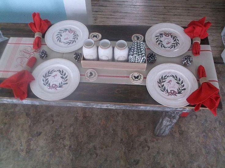 Noel Christmas Table Decor Kit