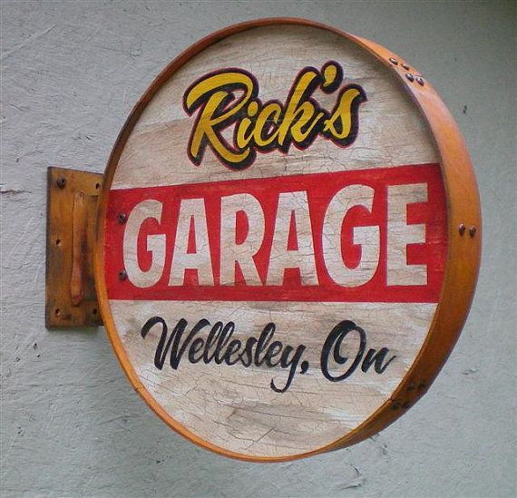 Personalized Rusty Style Garage by RetroRoadVintageSign on Etsy