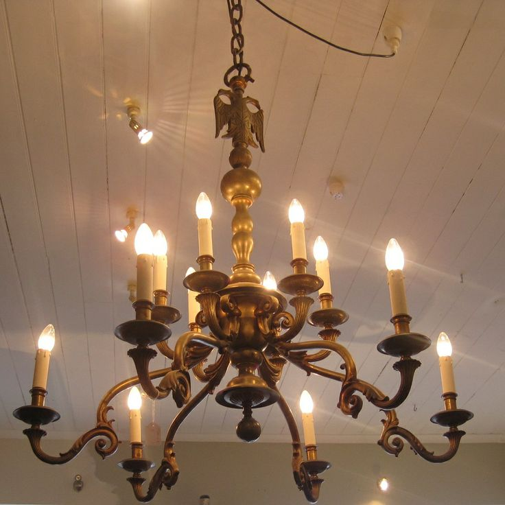 Large Dutch Bronze Light