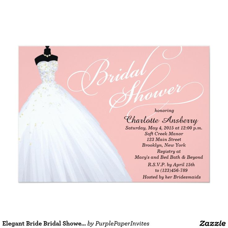 Elegant Bride Bridal Shower Invitation 247 best
