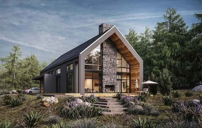 Prefabricated Houses Know The Advantages And How They Are Made New Decoration Styles Stone Wood And Glass I Modern Mimari Organik Mimari Mimari Modelleri