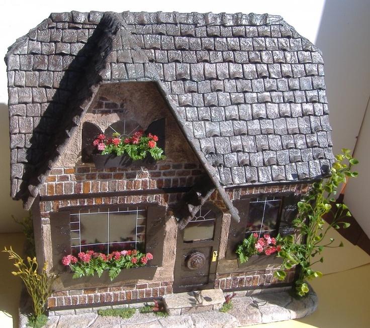 Country Charm Dollhouse by Tracy Topps  handmade shingles