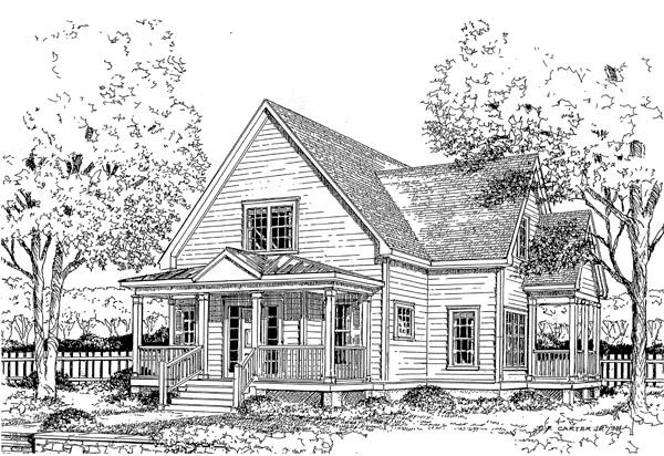 House Plan 45634 at FamilyHomePlans.com.  This is my dream home.  Only 1660 sq ft, but boy, I like it!