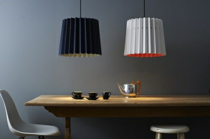 Designer lights Lampenshirm Indigo hanging tea