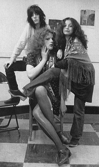 Patti Smith, Jackie Curtis and Penny Arcade. Photo by Pennie Smith