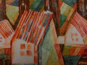Здравствуйте , друзья и жители Ярмарки Мастеров . Сегодня на первом месте выставленна серия работ --- ' Деревенские домики ' Милые сердцу дощатые домики, Скирды соломы на дальнем лугу, Словно о счастье своем вы нас молите, Будто надеетесь, вас сберегут. Старые домики, окна глазницами, Ставни распахнуты, в доме покой, Ветви малины густыми ресницами В окна стучат, только двери открой.....