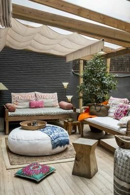 decoracion-de-terrazas-rusticas-tendencia-y-comodidad-9 #DecoraciondeJardines