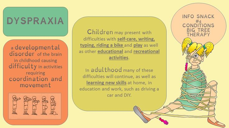 Information Snack: Conditions #4  Dyspraxia #infosnack #conditionsedition #bigtreetherapy #occupationaltherapy #dyspraxia