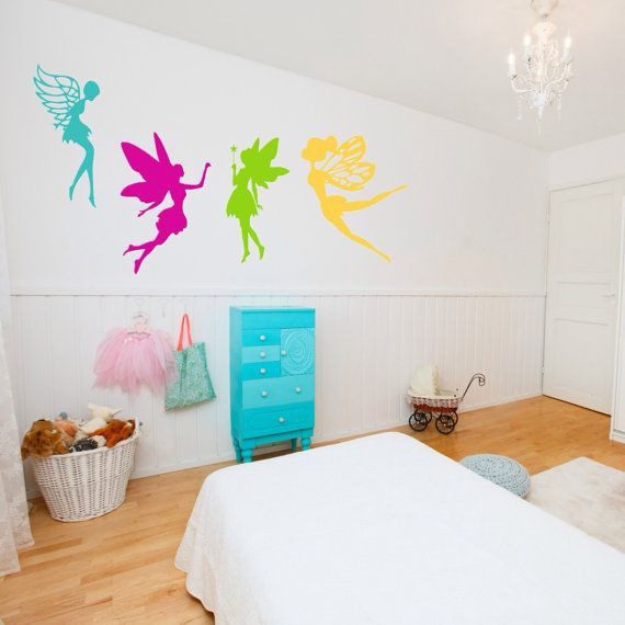 Fairy Wall Decal   Set of 4 Fairies  Baby Nursery by SpecialCuts, $34.50