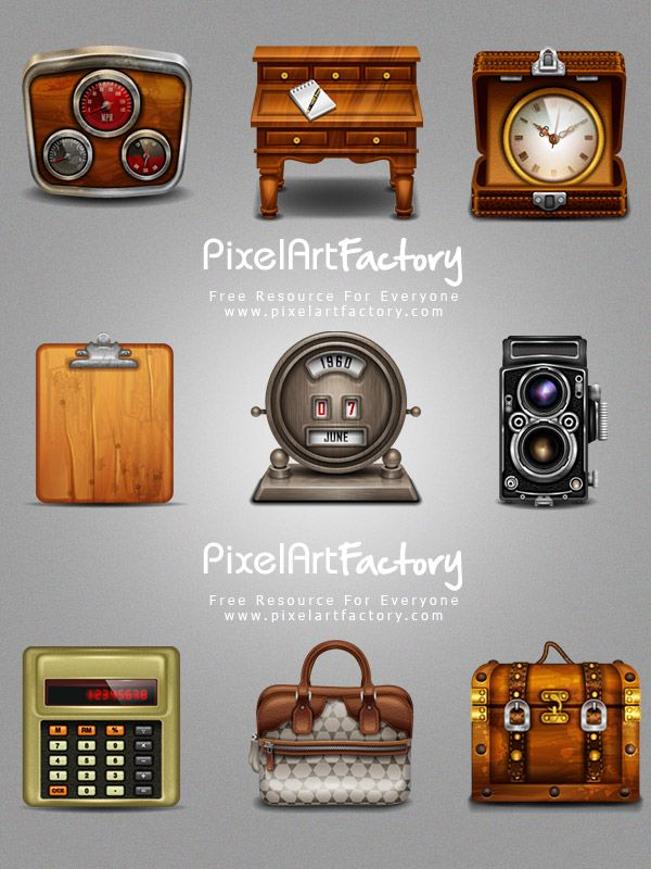 #Vintage #Web #Icons, #Calculator, #Camera, #Clock, #Free, #Graphic #Design, #Icon, #PNG, #Resource, #Retro