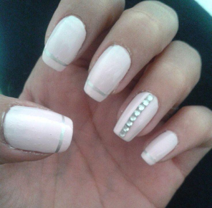 mis #uñas me encantaron #nailsart #pink #nailsoftheday #uñasdecoradas #nailsart