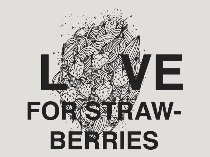Love for Strawberries - Illustration
