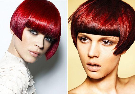 A kislányos bob-frizura egy csapásra stílust vált az érzéki, rubinvörös hajszínektől. Így már nőies vonzerőt és határozott magabiztosságot sugároz.