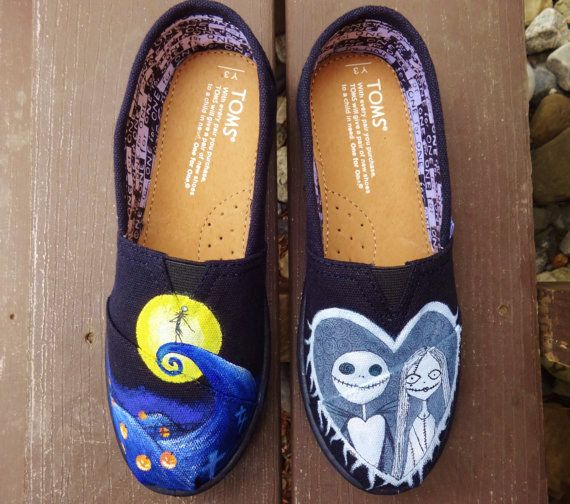 Nightmare Before Christmas | Community Post: 25 Beautifully Hand-Painted TOMS For Every Fandom