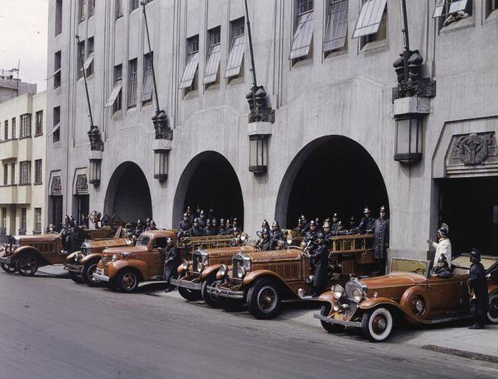 Американские пожарные 1930-х, фотограф Richard Hewitt Stewart, архив журнала National Geographic