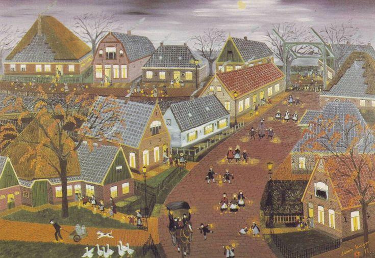 Sint-Maartenlopen in Oude Niedorp begin 20ste eeuw