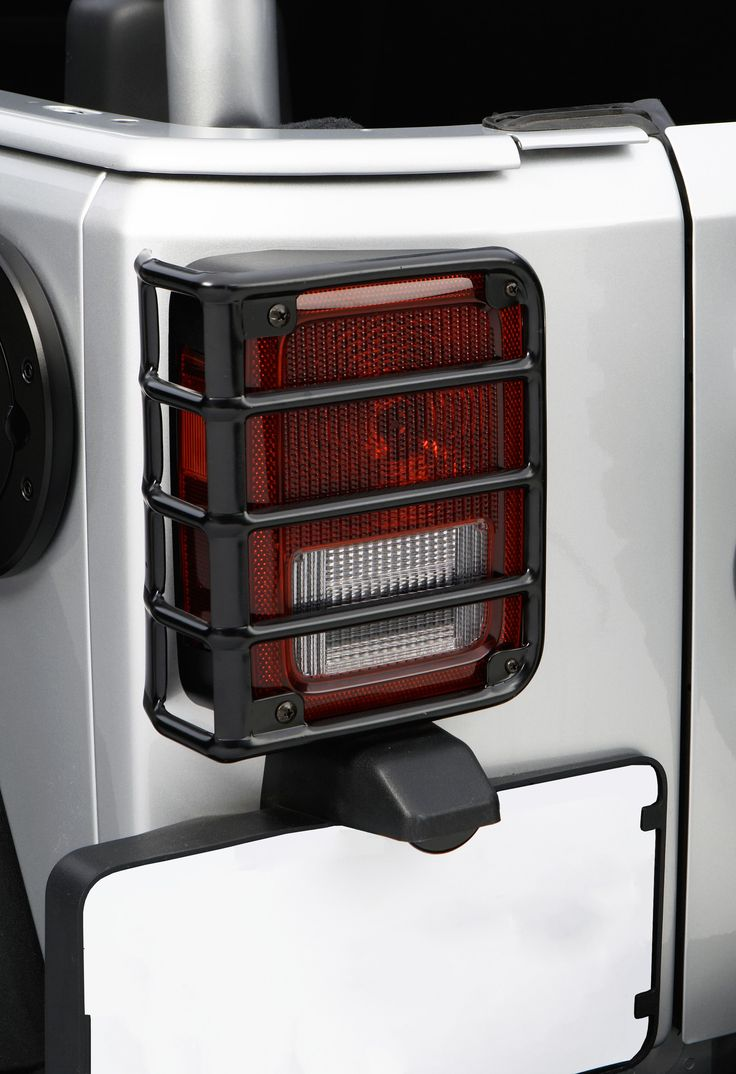 Buy tail light euro guards black 07 16 jeep wrangler jk at get4x4parts com for only 63 35