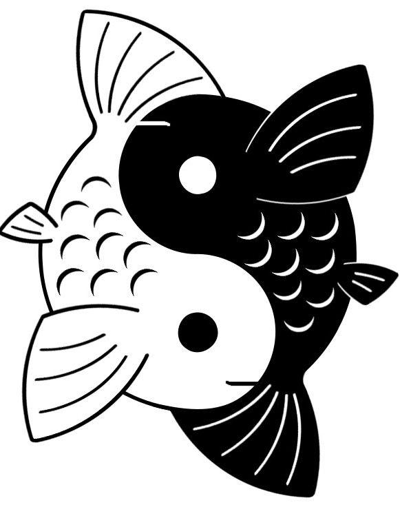 yin yang koi by yurayah