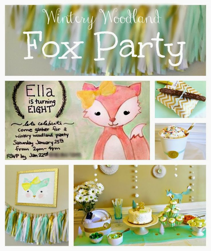 151 best Fox party images on Pinterest Fox party Foxes and 8th