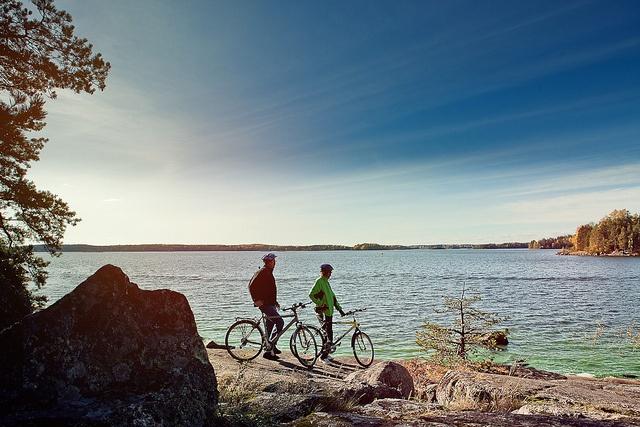 Cycling in Lappeenranta, Finnish Lakeland by Visit Finland, via Flickr