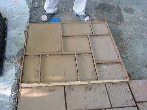 diy concrete pavers with homemade forms
