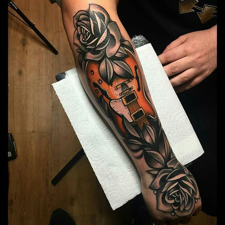 Best 25+ Guitar Tattoo Ideas On Pinterest