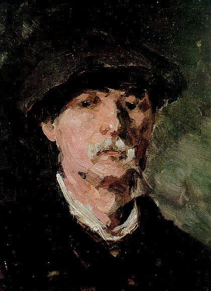 Nicolae Grigorescu (1838-1907) – Autoportret cu beretă (1900) Muzeul Naţional de Artă al României – Bucarest