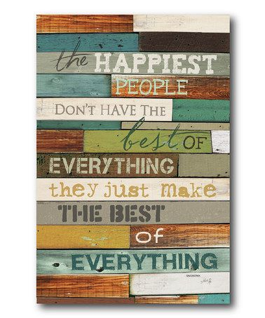 Look what I found on #zulily! 'The Happiest' Canvas Wall Art #zulilyfinds
