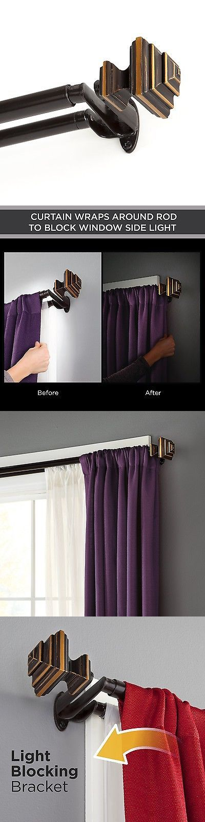 Curtain Rods and Finials 103459: Kenney 45005 Stacey Room Darkening Double Curtain Rod 36 -66 Oil Rubb... No Tax -> BUY IT NOW ONLY: $51.36 on eBay!