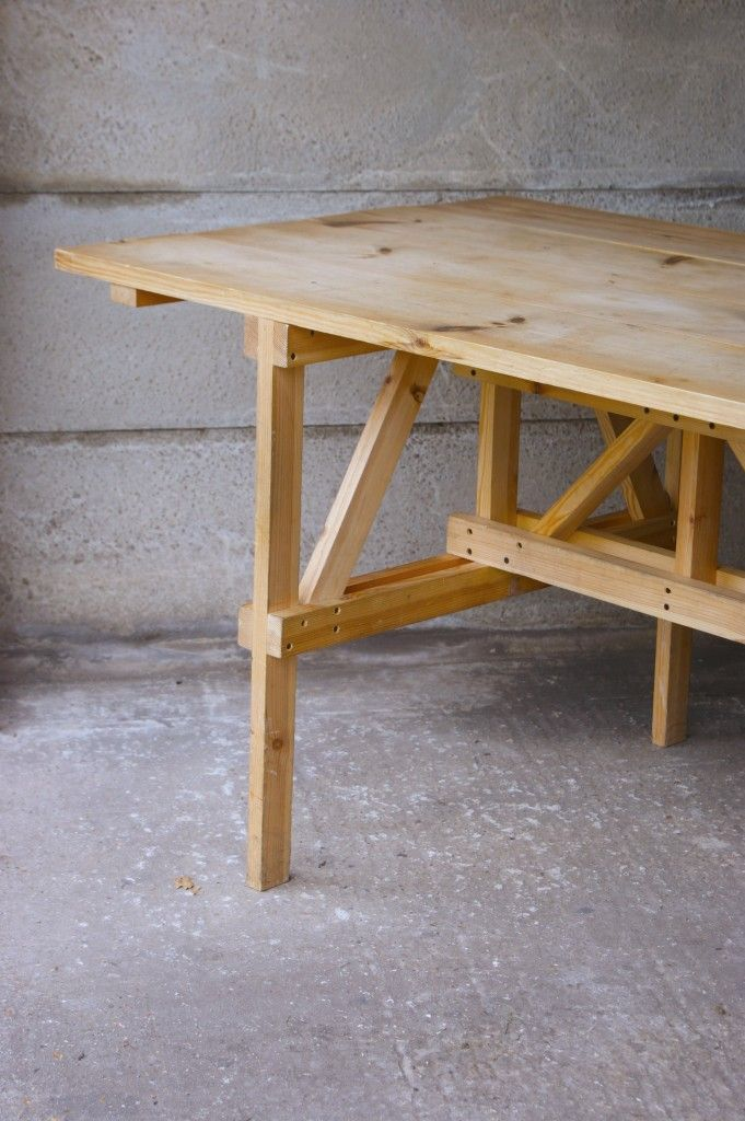 Enzo Mari Autoprogetazzione dining table