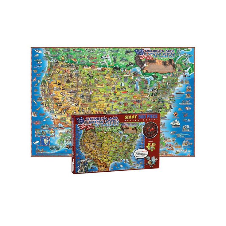 500 PC DINOS CHILDRENS US MAP 8