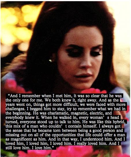 Lana Del Rey. National Anthem monologue.
