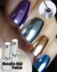 Metallic Nail Polish -   - #colurfulnails #cutenails #glitternails #metallic #metallicnails #Nail #polish