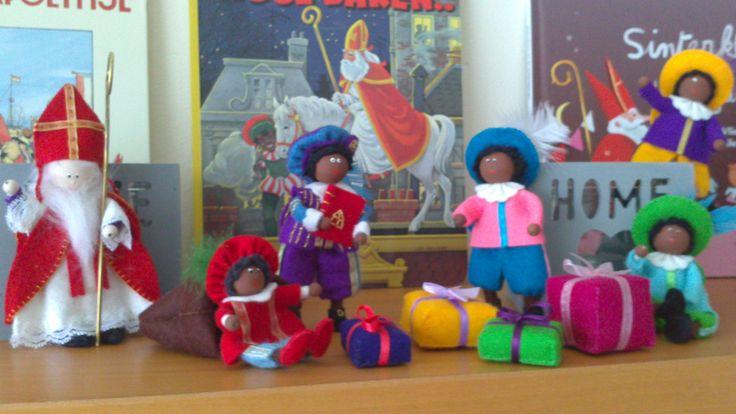 Sinterklaas en Pieten van vilt