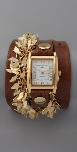 La Mer Multi Leaf Charm Watch.    I don't usually wear gold, but I would wear this.