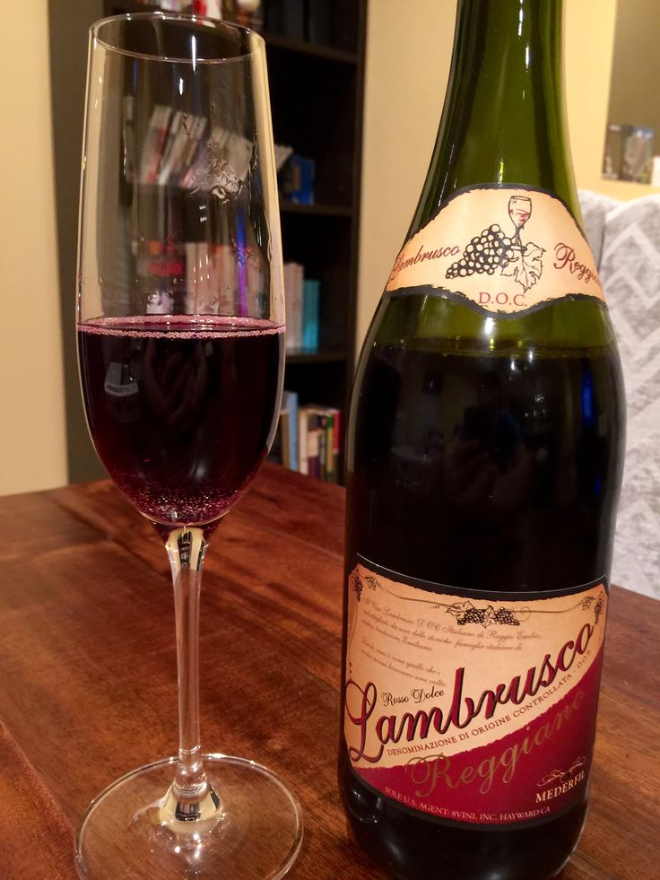 Mederfil Lambrusco Reggiano--full bodied deep red sparkling wine.... Sparkling red wine. Neat!