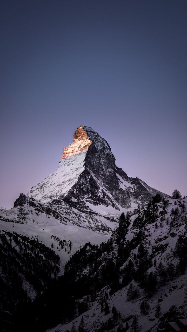 Matterhorn Mountain Peak 720x1280 Wallpaper Landscape Wallpaper Iphone Wallpaper Mountains Switzerland Wallpaper