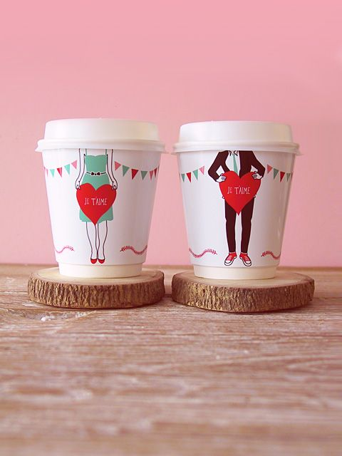 valentine Day I Love You Coffee Cup wrappers