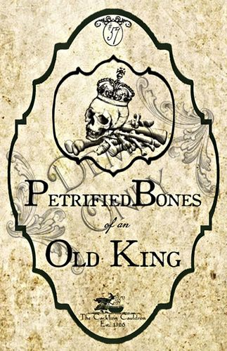 The Cackling Cauldron ~ Old Kings Bones Label