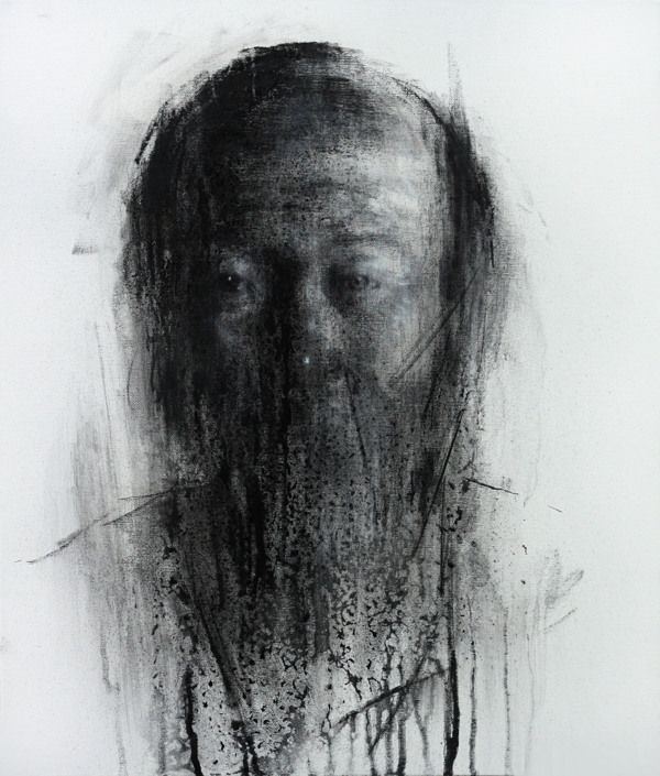 [109] untitled charcoal on canvas 53.2 x 41 cm 2013 by KwangHo Shin