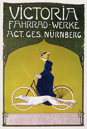Victoria Bikes (c. 1900) cycling poster from Londonderry's era
