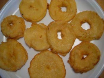Fette di mele fritte