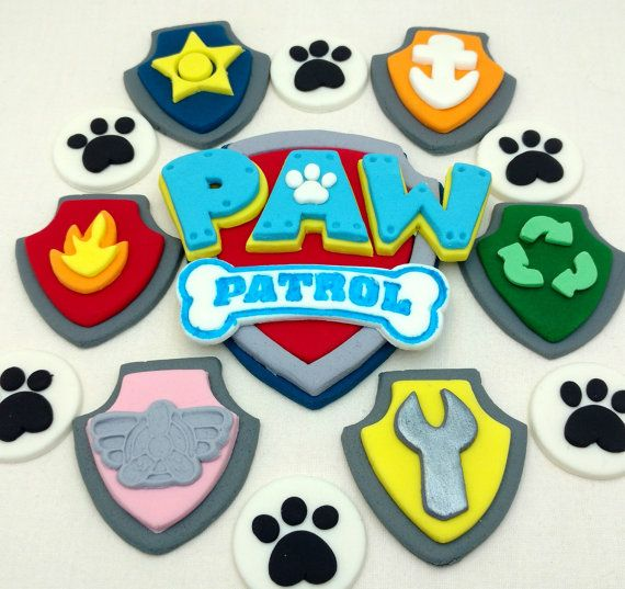 Paw Patrol Birthday Logo Badges and Paw Prints by SweetComplete