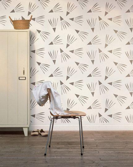 Venteux jour décoratifs scandinaves Wall pochoir pour projet DIY, regard de papier peint décoratif et décoration facile