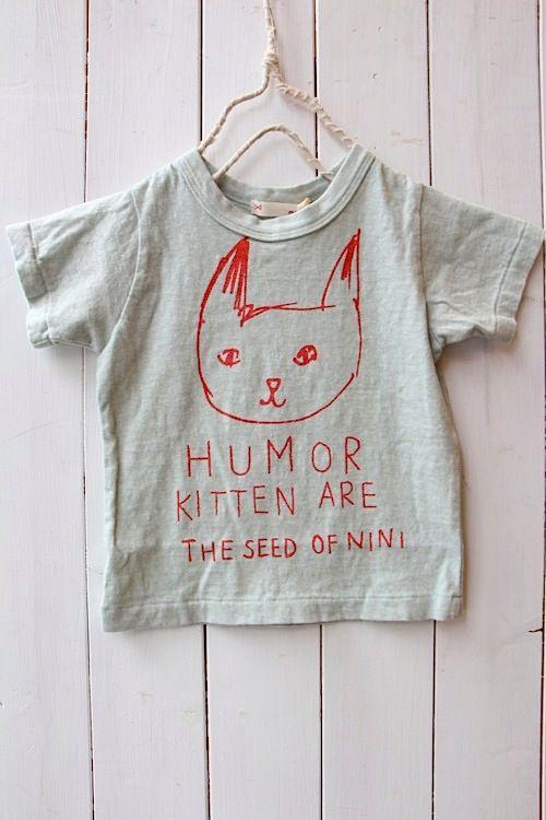 HUMOR KITTEN Tシャツ/グリーン(09) - 100% picnic.