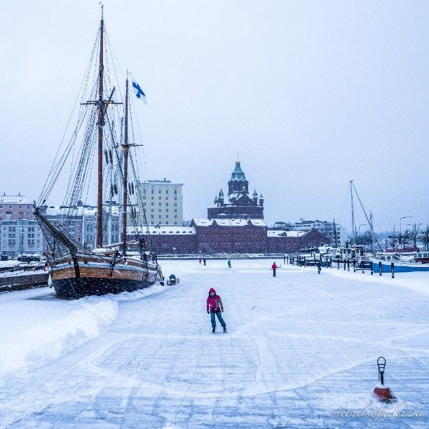 Ever tried ice skating on the sea? #Helsinki #SpottedByLocals