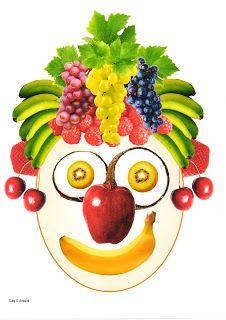 A la manière d'Arcimboldo avec des fruits.