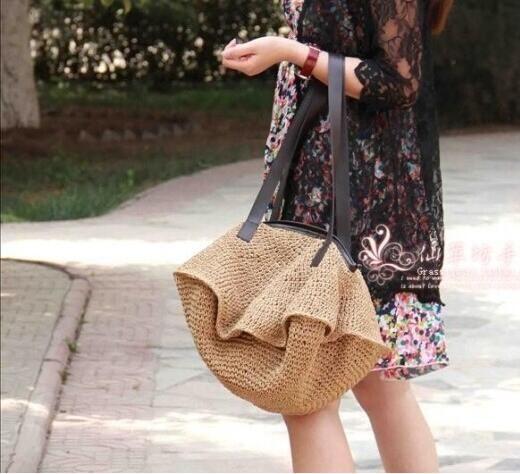 Cheap 2016 fashion paglia borsa da spiaggia grande capacità corda di carta sacchetto tessuto sacchetto di spalla femminile, Compro Qualità Sacchetti di spalla direttamente da fornitori della Cina:   Dettagli del prodotto                                                              &nbsp