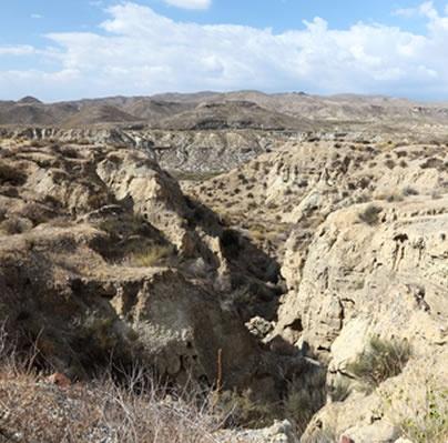 Tabernas desert - awesome desert ravines