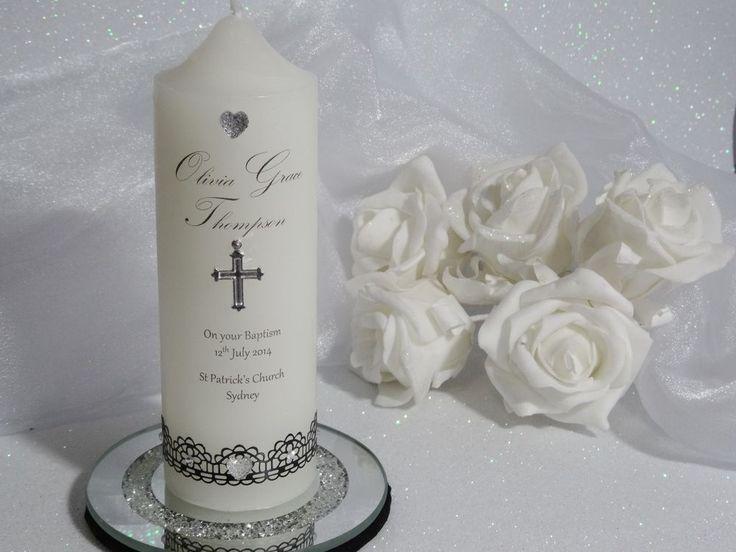 ~ Personalised Candle ~ Keepsake Gift ~ BAPTISM, CHRISTENING, NAME GIVING - S6 #HandMade